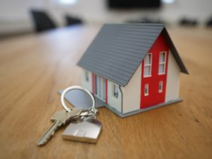 A house attached to a set of new keys