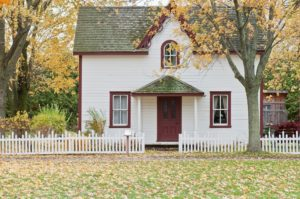 A small home with home title insurance